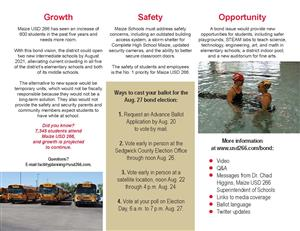 Maize USD 266 informational bond brochure, page 2
