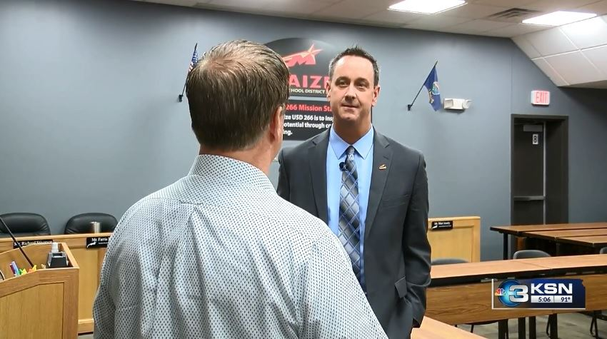 Dr. Chad Higgins, Maize USD 266 Superintendent of Schools visits with KSN.