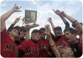 Photo of Baseball team holding State trophy