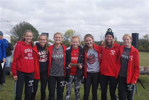 Photo of girls XC team