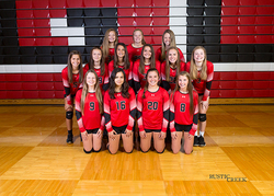 Freshman volleyball team photo