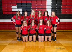 JV volleyball team photo