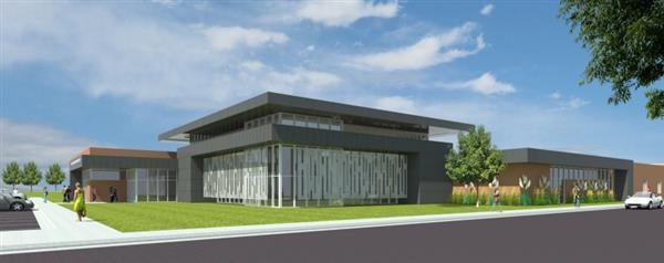 Digital rendering of Maize Career Academy