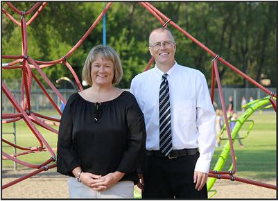 Assistant Principal Marney Hay and Principal Michael Dome