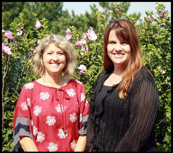Photo of school administrators Michelle Hilliard and Dr. Kristy Custer