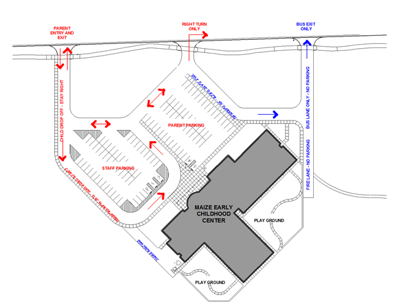 Maize Early Childhood Center Traffic Flow Map