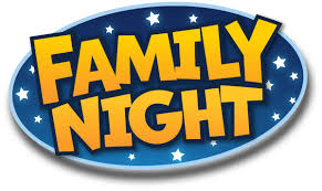 Image of family night text