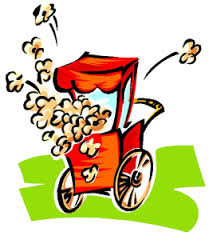 cartoon image of popcorn machine