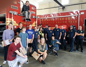 Emerging Technologies students last fall visited the Wichita Fire Department Technical Rescue Team.