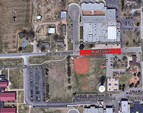 Academy Avenue road closure map