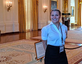 Heidi Albin, winner of the Presidential Award for Excellence in Mathematic