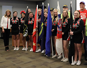 Maize High School Cheer, Kansas Honor Flight, and Maize Board of Education