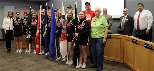 Maize High School Cheer, Kansas Honor Flight, and Maize USD 266 Board of Education