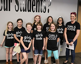 Vermillion Elementary School showcases new Girls Who Code club
