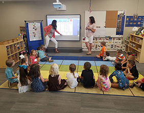 A Maize Early Childhood Center preschool class on the first day of school in August 2017.